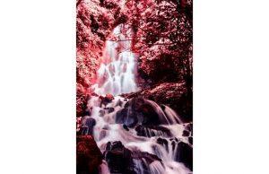 Фотообои Красный водопад