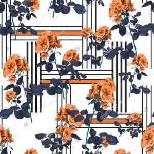 Фотообои Оранжевые цветы