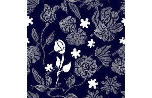 Фотообои Белые узорные цветы