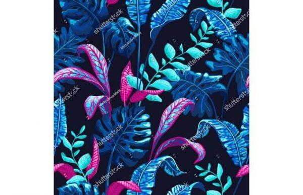 Фотообои Синие листья