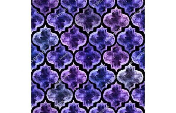 Фотообои Фиолетовый узор
