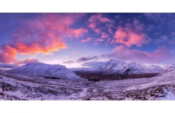 Фотообои Розовые горы