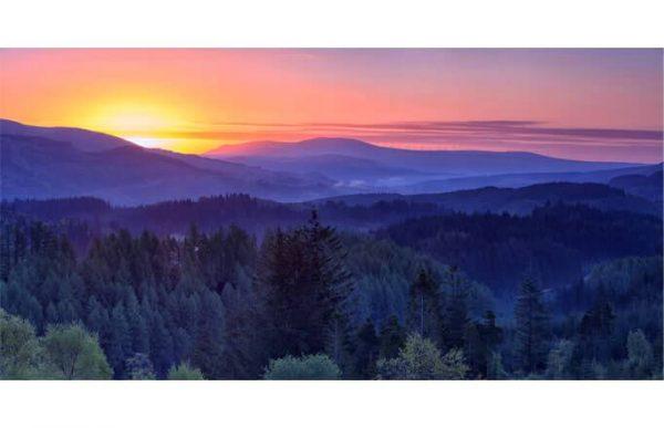Фотообои Холмы на закате