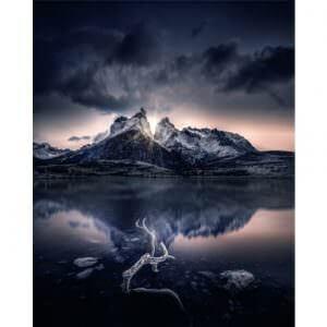 Фотообои Гроза над горой