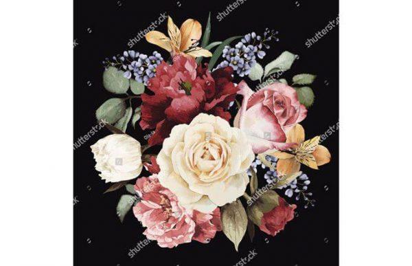 Фотообои Букет из ярких цветов