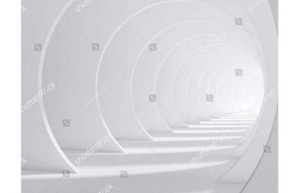 Фотообои Светлый тоннель из колец