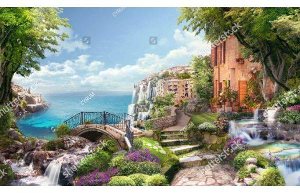 Фотообои Фреска с видом на море