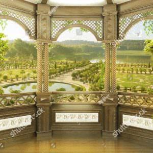 Фотообои Вид с террасы на парк