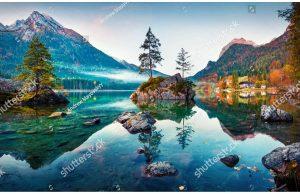 Фотообои Зеркало среди гор