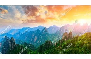 Фотообои Небо над скалами