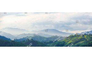 Фотообои Туманная горная панорама