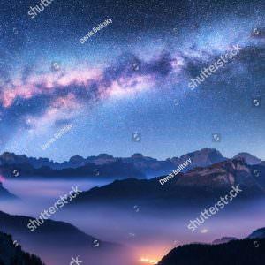 Фотообои Млечный путь и горы