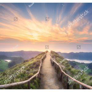 Фотообои Тропинка в закат