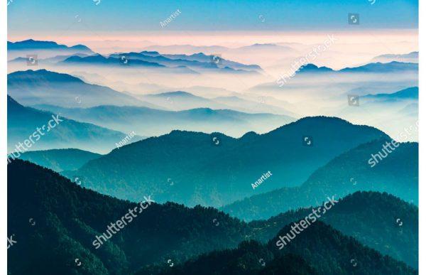 Фотообои Горные дали в тумане