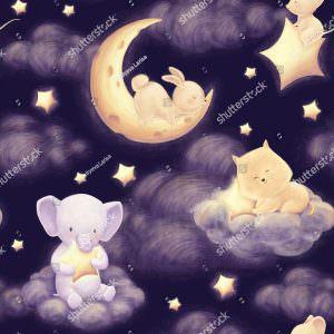 Фотообои Спокойной ночи зверюшки