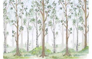 Фотообои Нарисованный лесок