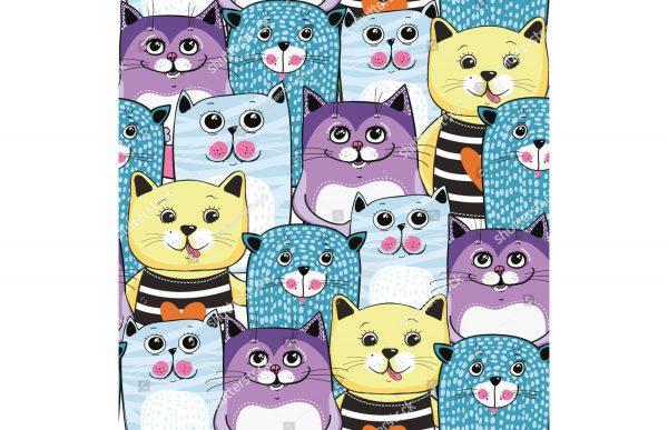 Фотообои Много милых котиков