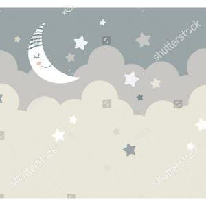 Фотообои Облака и полумесяц