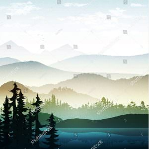 Фотообои Деревья и холмы