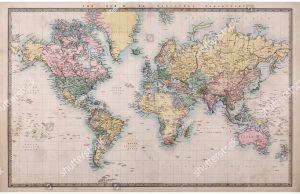 Фотообои Старинная карта 1860 год