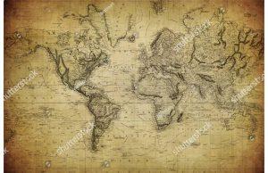 Фотообои Старинная карта 1814 год