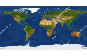 Фотообои Натуральная карта мира