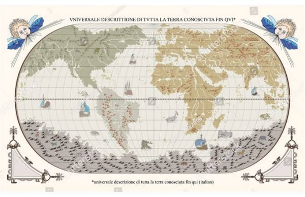 Фотообои Карта испанских мореходов