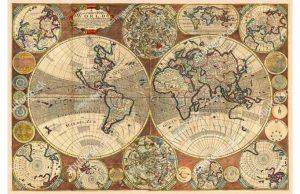 Фотообои Винтажная средневековая карта