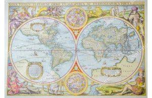 Фотообои Карта с живописью