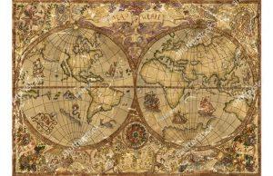 Фотообои Атлас мира на пергаменте