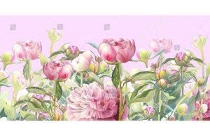 Фотообои Розовые пионы