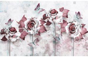 Фотообои Розы оттенка марсала