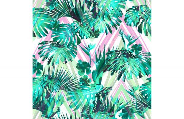 Фотообои Листья пальмы с зигзагом
