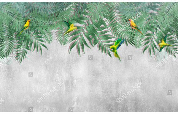 Фотообои Свисающие листья пальмы