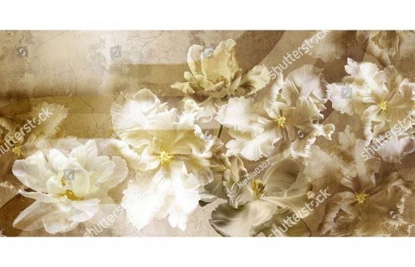 Фотообои Золотые гладиолусы
