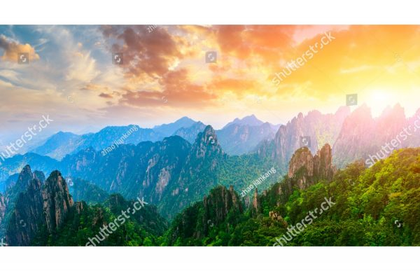 Фотообои Закат в горах