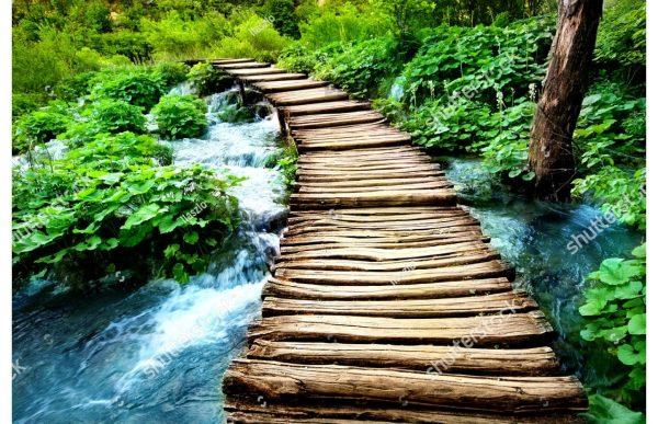 Фотообои Старый деревянный мост