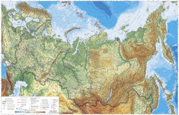 Фотообои Детализированная карта России