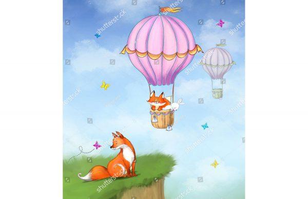 Фотообои Милые лисички