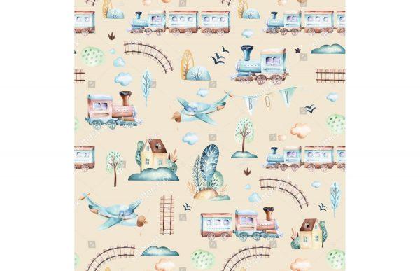Фотообои Поезда и самолеты