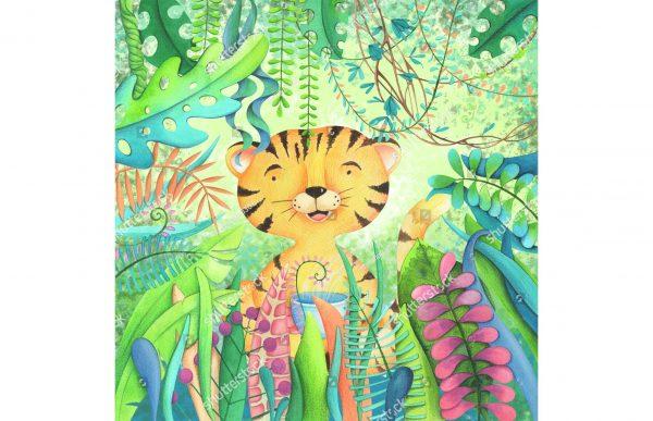 Фотообои Тигрёнок в джунглях