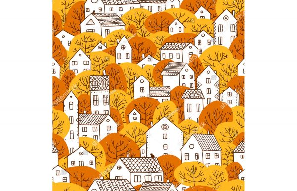 Фотообои Осенняя раскраска