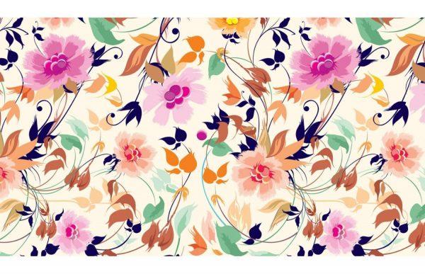 Фотообои Яркий цветочный узор