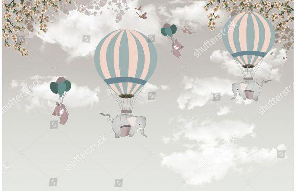 Фотообои Слоны тоже могут летать