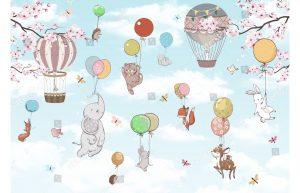Фотообои Путешествие на воздушных шариках
