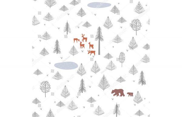 Фотообои Северный лес