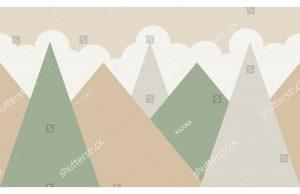 Фотообои Горы-треугольники
