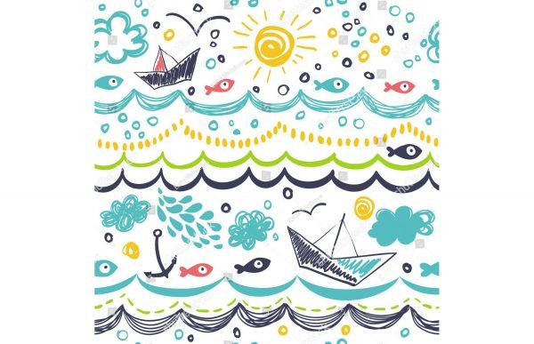 Фотообои Морской рисунок