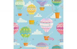 Фотообои Разноцветные воздушные шары в небе