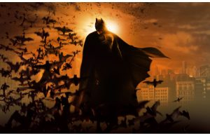 Фотообои Бэтмен в закате Готэма